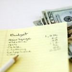 image of budget sheet and money
