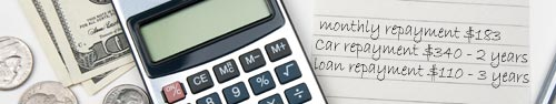 image of calculator and notepad